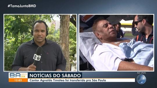Agnaldo Timóteo é transferido de Salvador para São Paulo