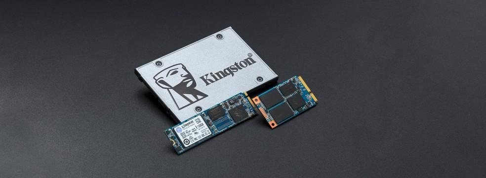 Assim como pendrives, SSDs não contam com partes mecânicas e duram mais que HDs convencionais — Foto: Divulgação/Kingston