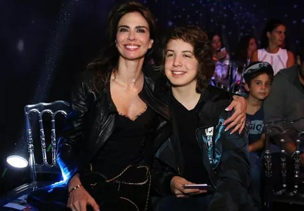 Luciana Gimenez e o filho mais velho, Lucas Jagger (Foto: Manuela Scarpa/Brazil News)