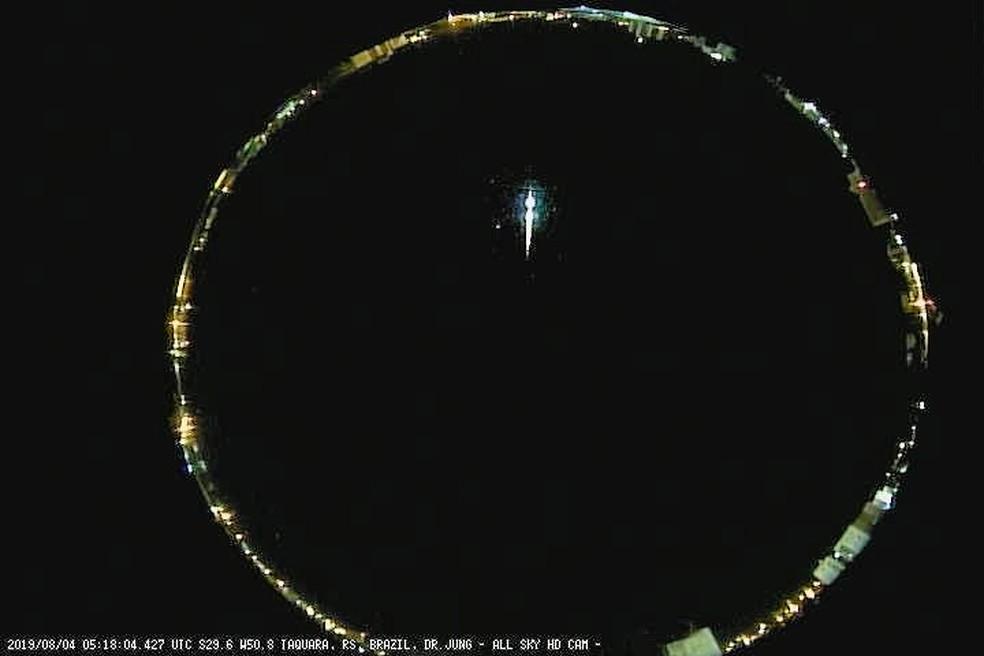 Câmera de 360º em Taquara registrou o fenômeno — Foto: Carlos Fernando Jung / Divulgação