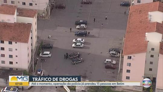 Conjunto habitacional de Betim é alvo de operação contra o tráfico de drogas