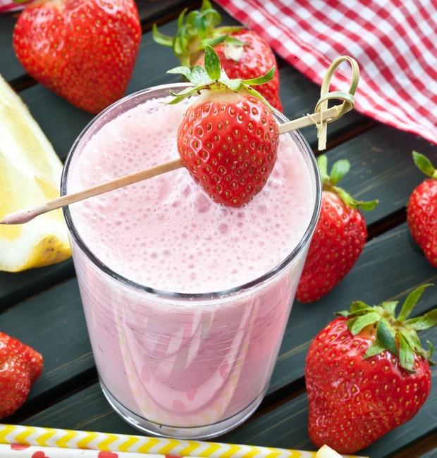 Shake de morango vegano (Foto: Divulgação)