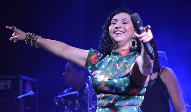 A cantora de forró Eliane (Foto: Felipe Souto Maior/AgNews)