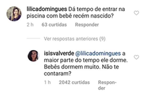 Isis Valverde rebate seguidoras (Foto: Reprodução/Instagram)