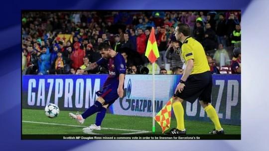 Parlamentar falta a votação para ser assistente em jogo do Barcelona