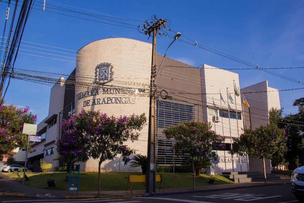 Câmara de Arapongas ficará fechada para desinfecção — Foto: Câmara de Vereadores de Arapongas/Divulgação