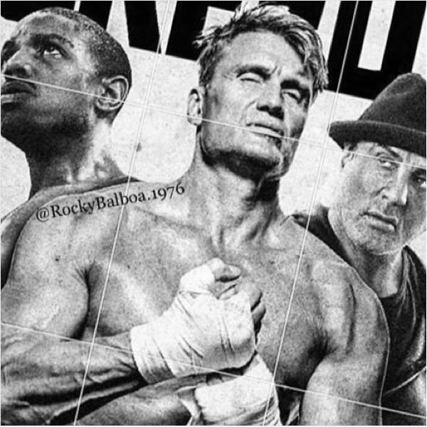 Uma foto compartilhada por Sylvester Stallone mostrando o filho de Apollo Creed, Ivan Drago e Rocky Balboa (Foto: Instagram)