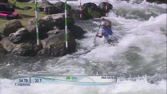 Ana Sátila avança à final do C1 no Mundial de canoagem slalom; Pepê é eliminado