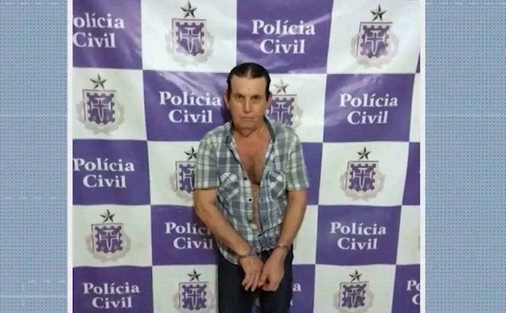 Sinvaldo Vieira, de 71 anos, é suspeito de comprar adolescente de 12 anos por R$ 70 mil — Foto: Reprodução/TV Oeste