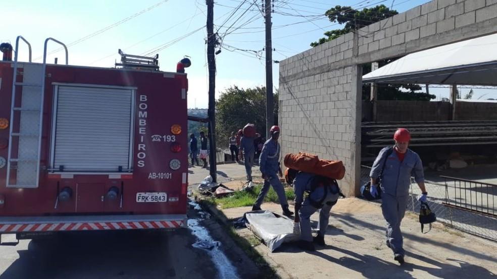 Bombeiros informaram que jovem teve múltiplas fraturas pelo corpo em Marília — Foto: Marília Notícia/Divulgação