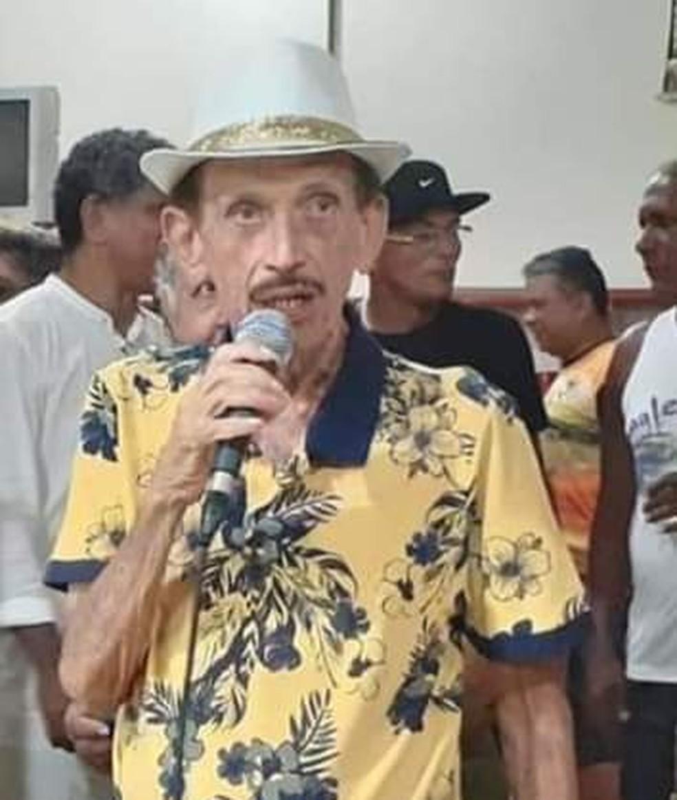 Cabeleira, primeiro Mestre-Sala de Rondônia, morre aos 80 anos — Foto: Arquivo pessoal