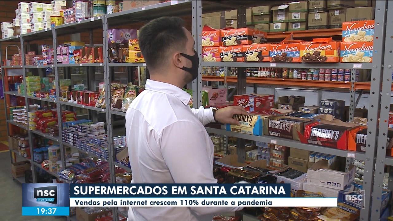 Vendas pela internet de supermercados de SC crescem 110% durante a pandemia