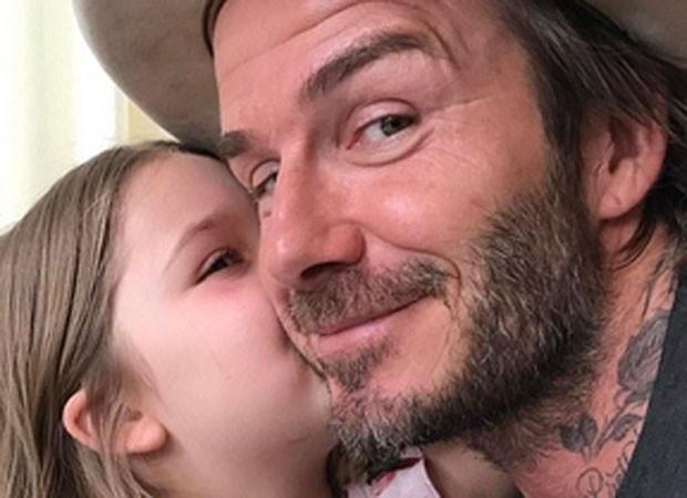 David Beckham e Harper (Foto: Reprodução)
