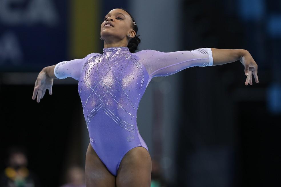 Rebeca Andrade ginástica Pan — Foto: Ricardo Bufolin/CBG