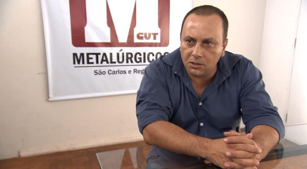 O vice-presidente do Sindicato dos Metalúrgicos, Vanderlei Strano. (Foto: Reprodução/ EPTV)