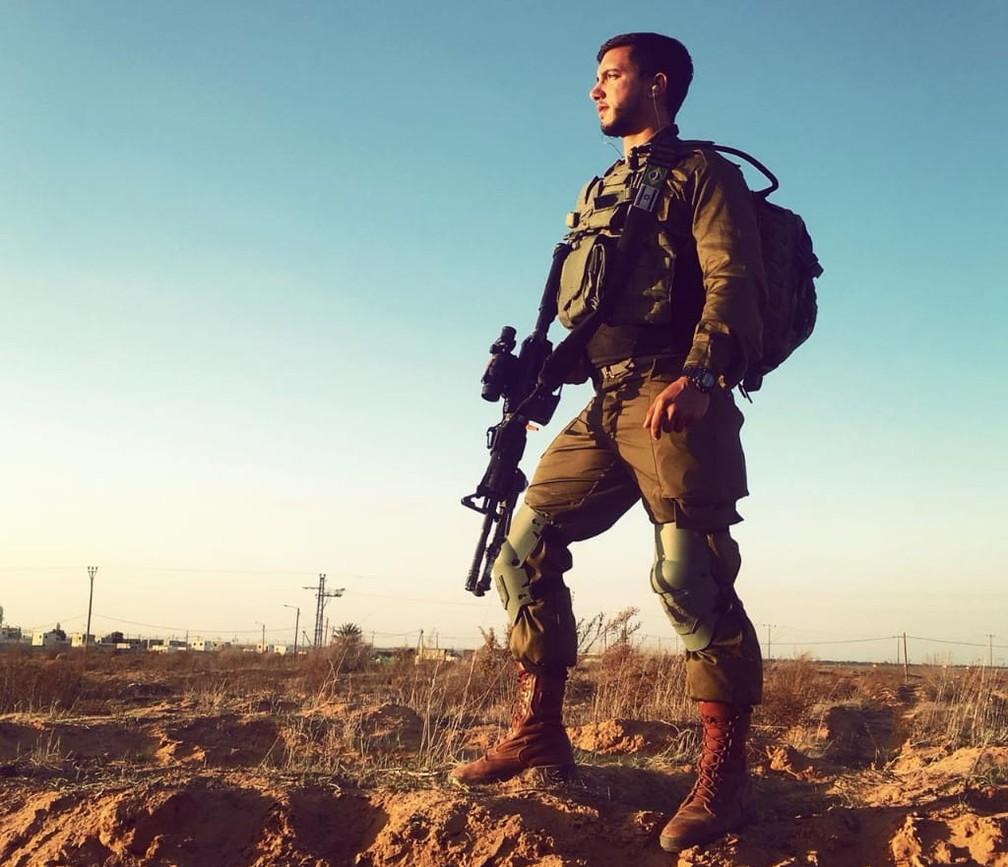 Fernando Larrat Miranda é natural de Belém, mas há 18 meses trabalha no Exército de Israel. — Foto: Arquivo Pessoal