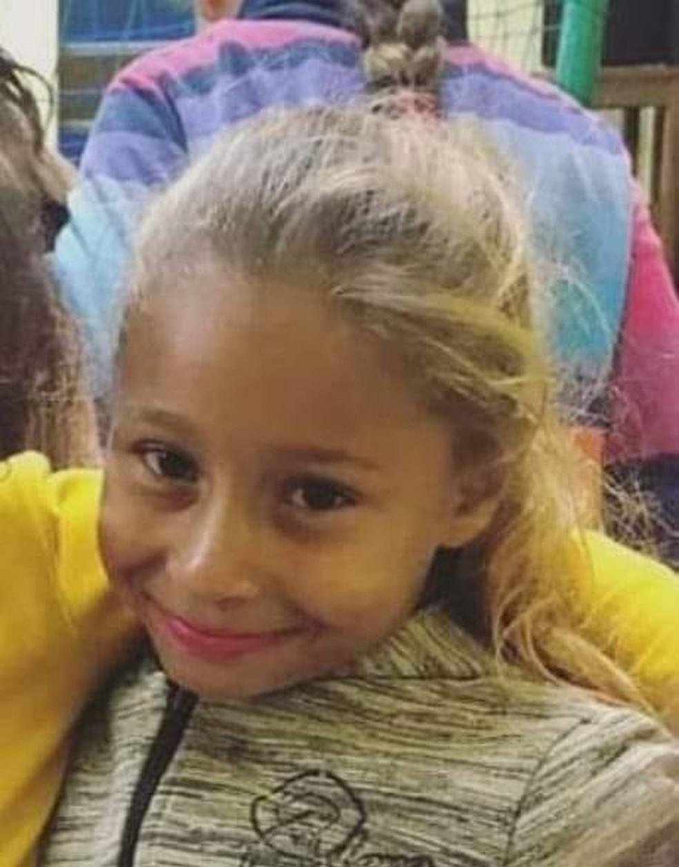 Menina desapareceu enquanto brincava em praça perto de casa em Chavantes — Foto: Arquivo pessoal