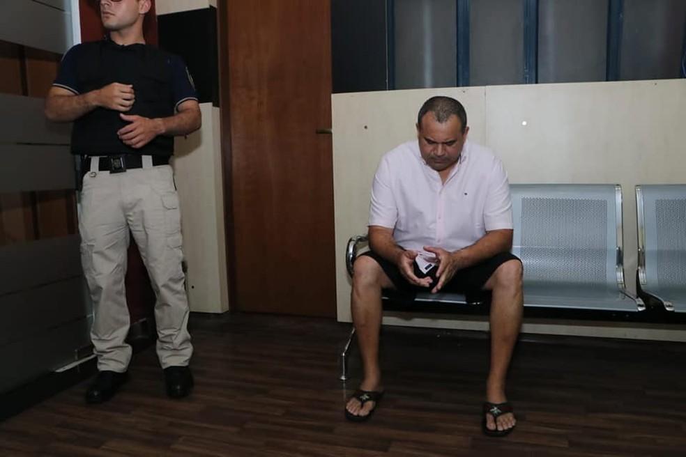 Wilmondes Sousa Lira preso no Paraguai — Foto: Divulgação/Ministério Público do Paraguai