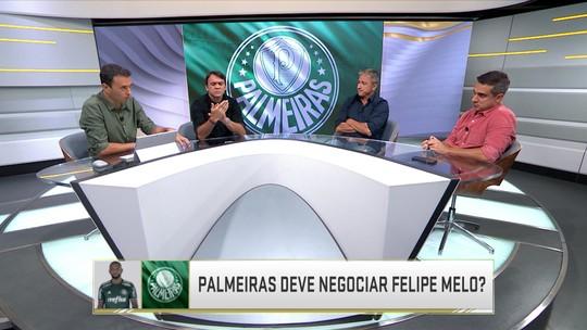 """Felipe Melo desconversa sobre Flamengo e lembra contrato com Palmeiras: """"Vou com o que tenho"""""""