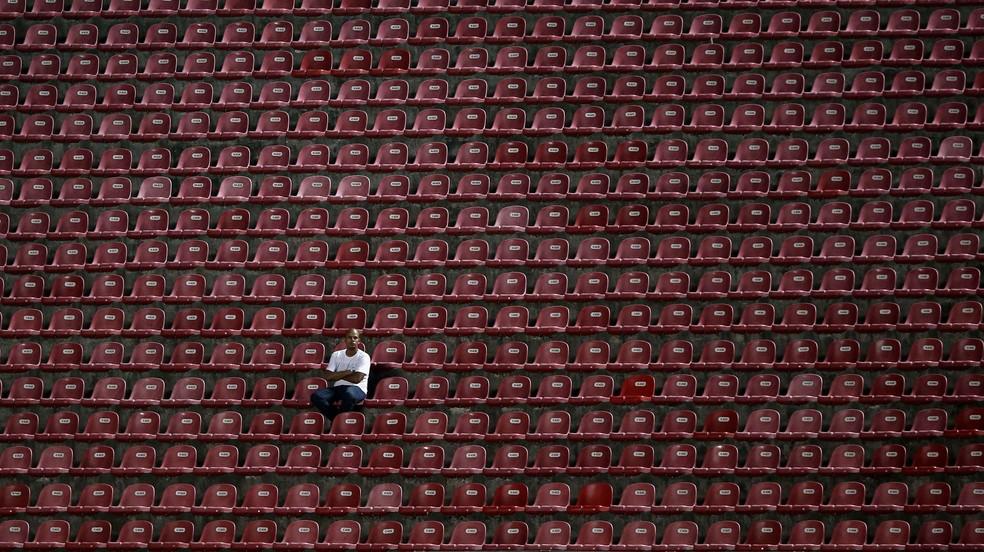 Morumbi vazio — Foto: Agência Getty Images
