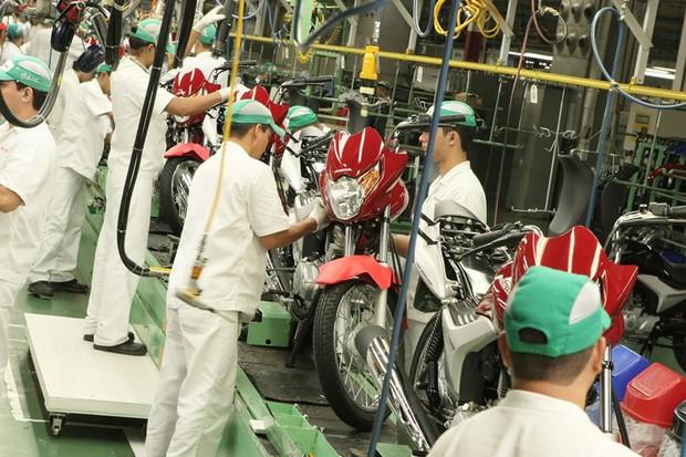 Fábrica de motos da Honda (Foto: Divulgação)