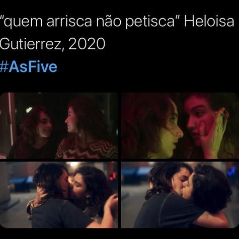 Quinto episódio de 'As five' repercurtiu nas redes (Foto: TV Globo - Reprodução/twitter)