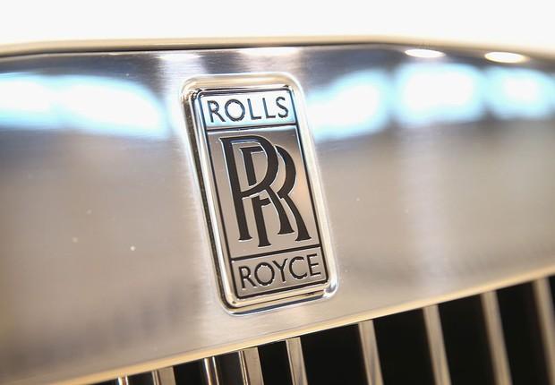 Logo da Rolls-Royce visto em veículo, em Chicago (Foto: Scott Olson/Getty Images)