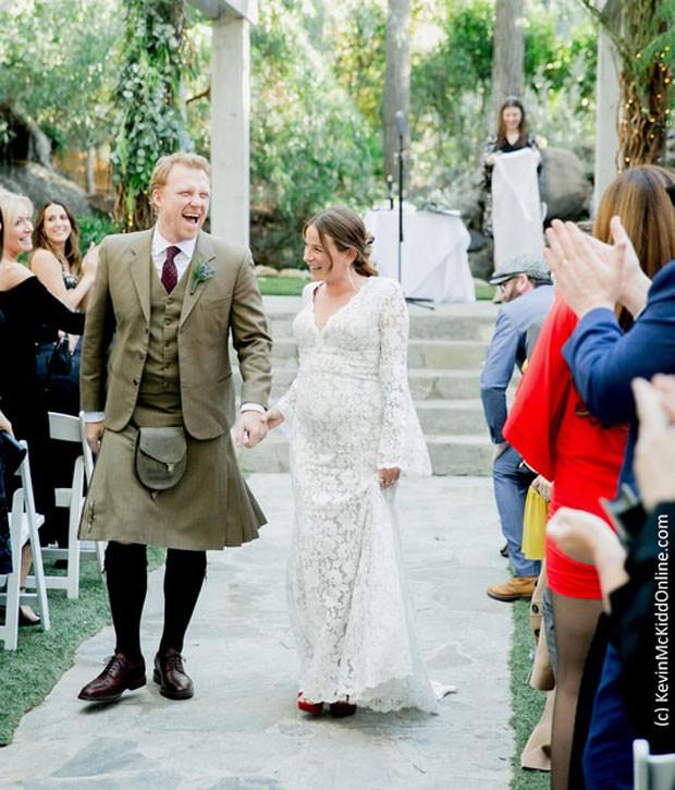 Kevin McKidd e Arielle Goldrath (Foto: Reprodução)