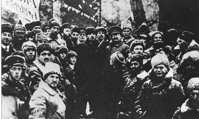 Imagem da Revolução Russa, em 1917