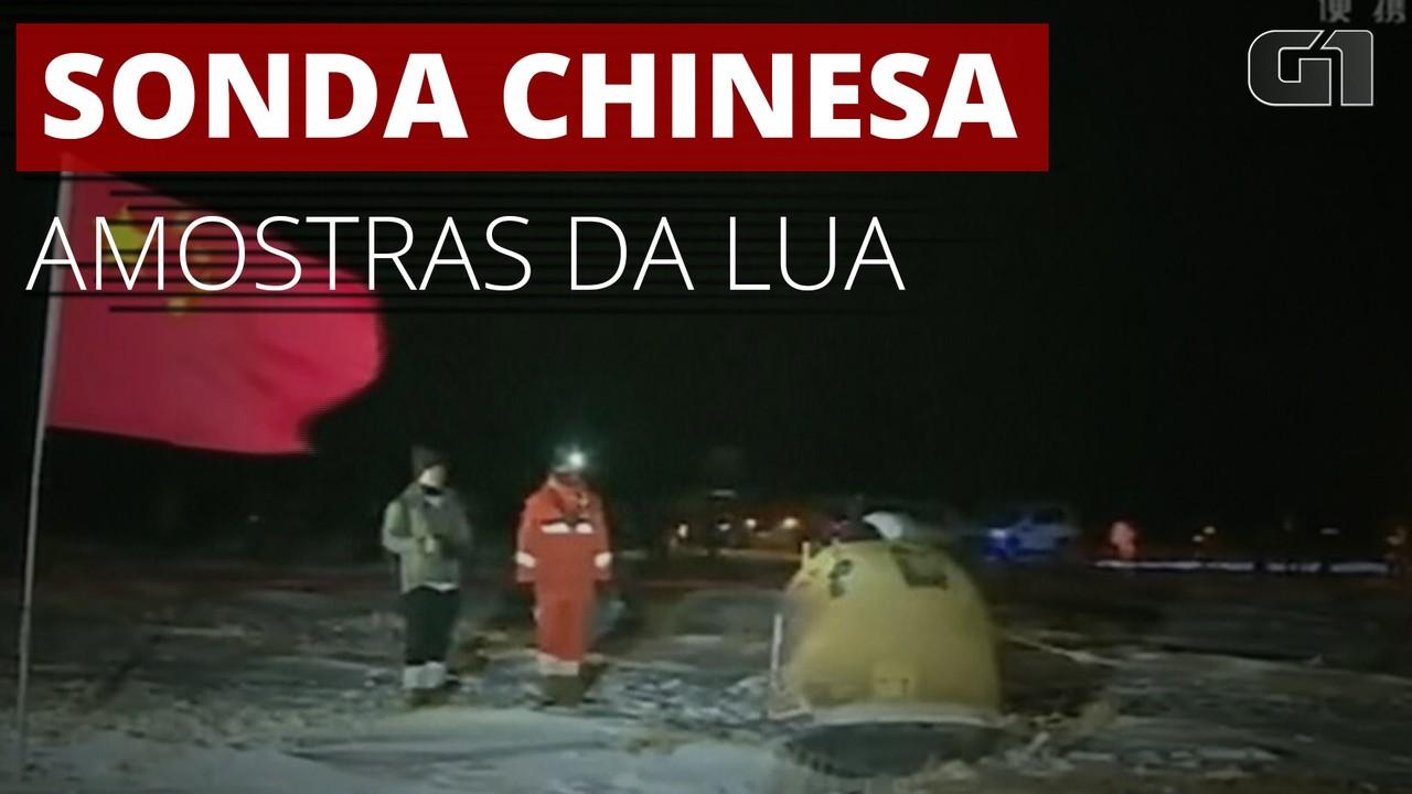 VÍDEO: Sonda chinesa volta à Terra com amostras da superfície da Lua