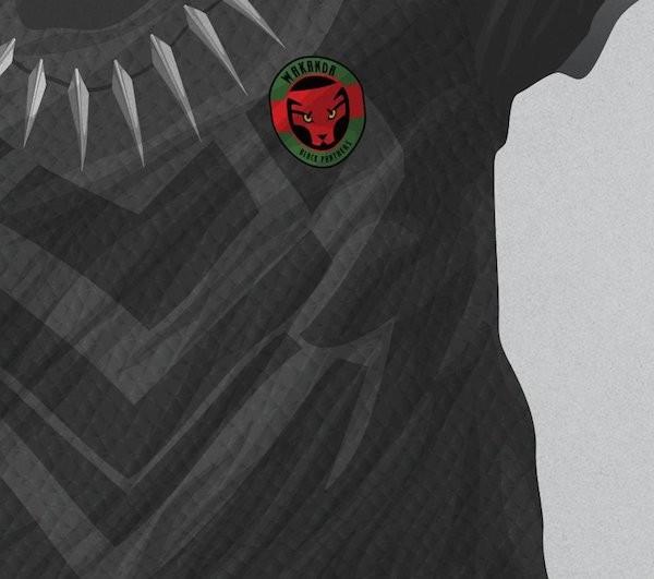O uniforme criado pelo designer Mark Yesilevskiy para Wakanda, país do Pantera Negra, para a Copa do Mundo (Foto: Twitter)
