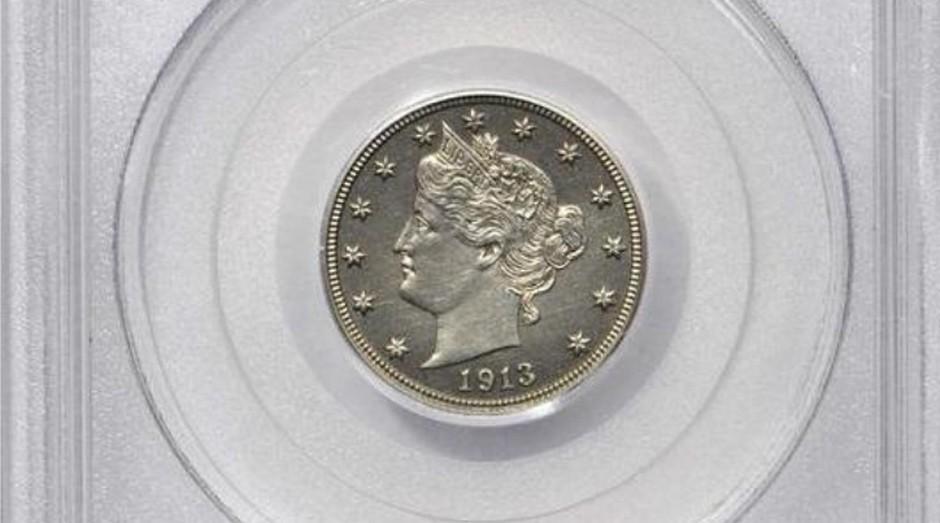 1913 Liberty Head foi leiloada por US$ 4,5 milhões (Foto: Reprodução/Stacks Bowers Galleries)