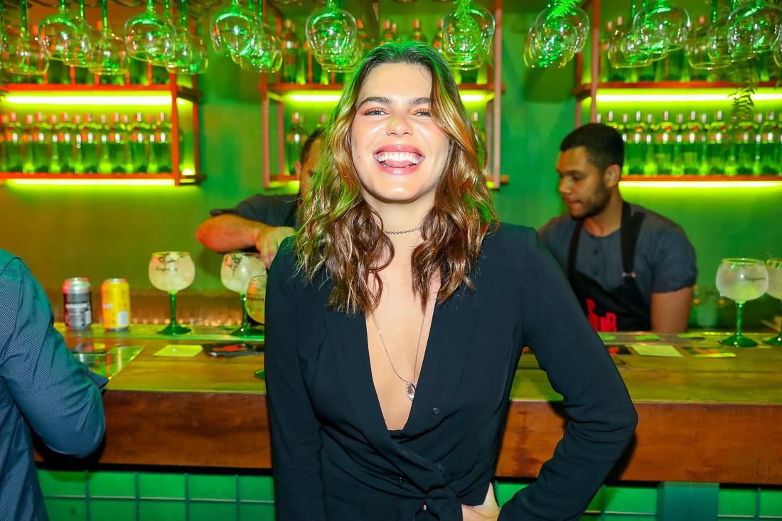 Mari Goldfarb na inauguração do Tanqueray Mixed Gin Bar (Foto: Divulgação)