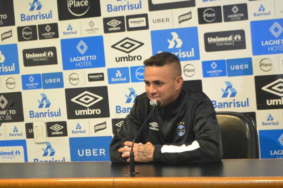 Luan falou em entrevista coletiva nesta terça (Foto: Eduardo Moura)