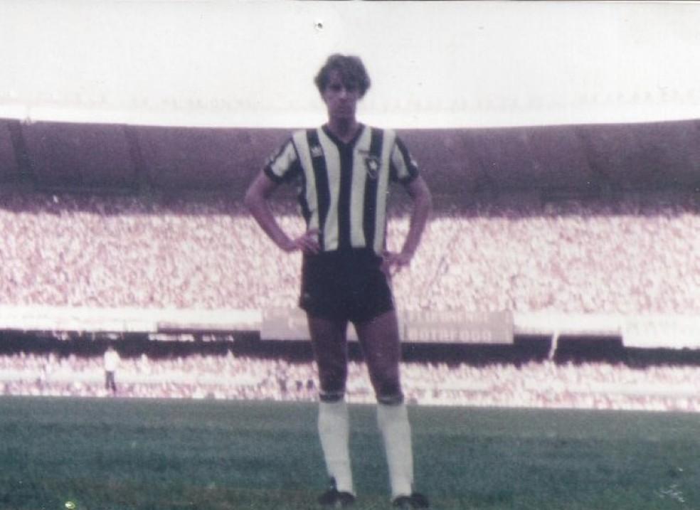 Torcedor do Botafogo, Luiz Cláudio defendeu o clube do coração — Foto: Luiz Cláudio Simão/Arquivo Pessoal