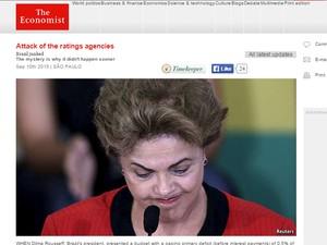 The Economist repercutiu o rebaixamento do Brasil (Foto: Reprodução/The Economist)