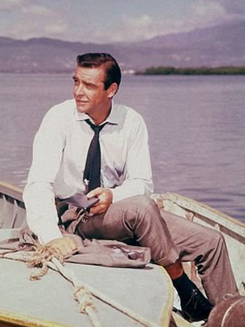 O ator Sean Connery, em cena de '007 contra Goldfinger'. — Foto: Divulgação