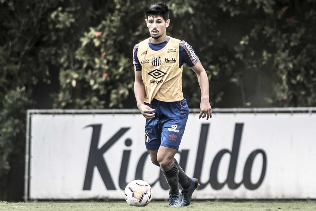 Anderson Ceará em treino do Santos — Foto: Ivan Storti/Santos