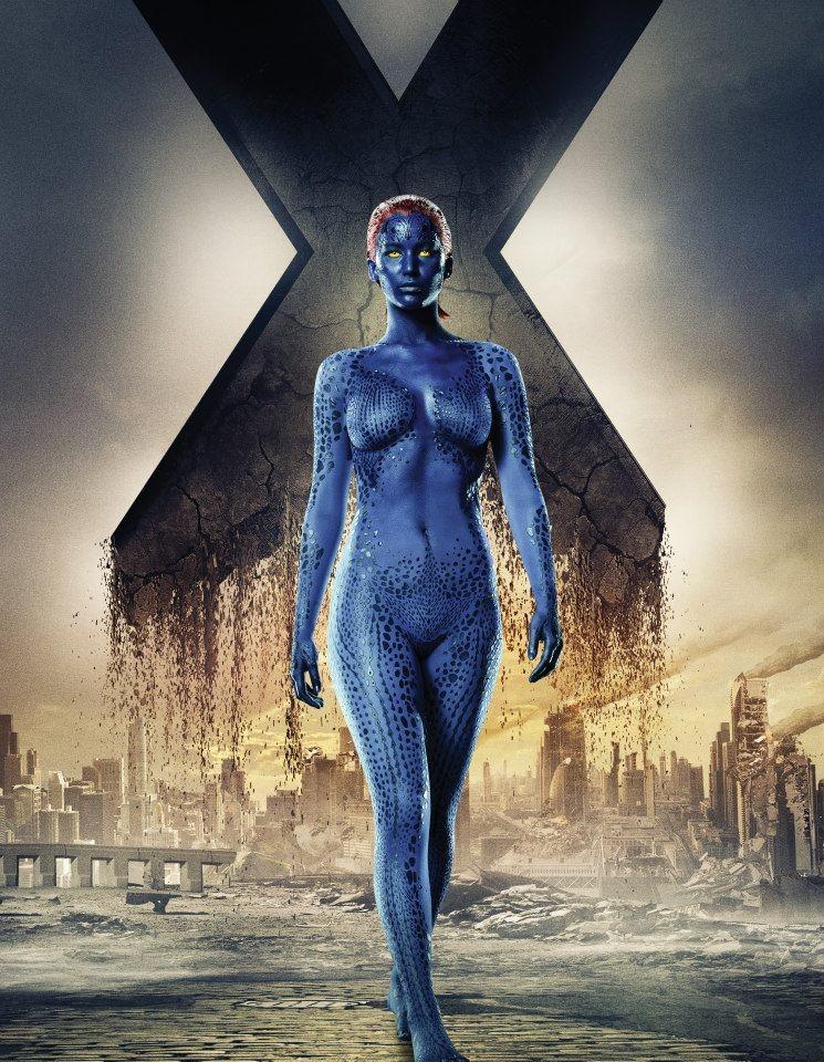 Jennifer Lawrence como Mística em cartaz de 'X-Men: Dias de Um Futuro Esquecido' (Foto: Divulgação)