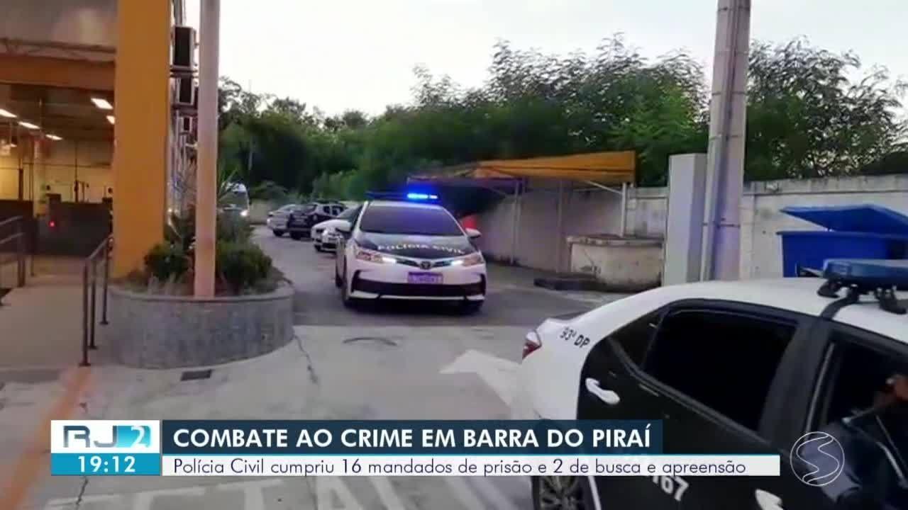 Operação em Barra do Piraí prende 13 pessoas envolvidas em homicídios
