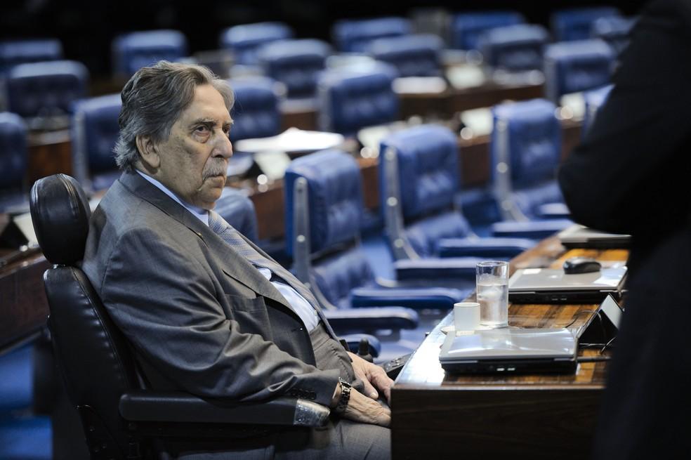 Epitácio Cafeteira morreu neste domingo (13) em Brasília (Foto: Pedro França/Agência Senado)