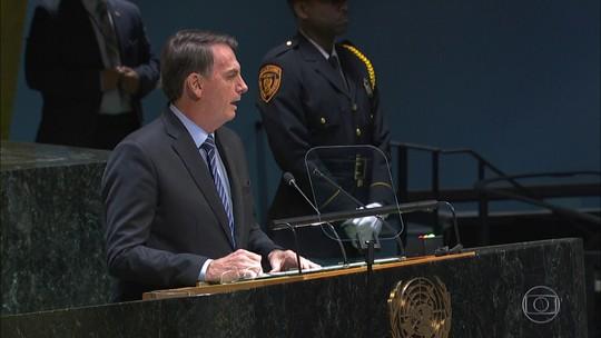 """""""É falácia dizer que a Amazônia é patrimônio da humanidade"""", afirma Bolsonaro na ONU"""