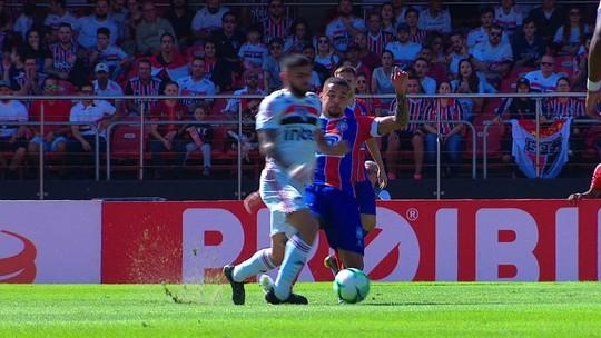 São Paulo x Bahia: Liziero joga 12 minutos, sofre entorse no tornozelo e chora; vídeo