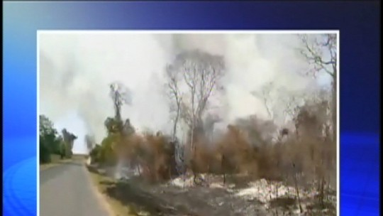 Mais de 130 queimadas atingiram a região noroeste paulista neste fim de semana