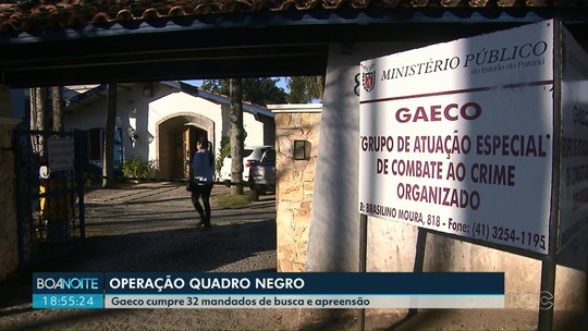 Gaeco cumpre 32 mandados de busca e apreensão na Operação Quadro Negro