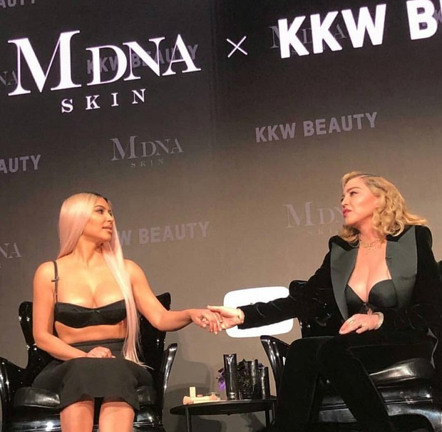 Kim Kardashian e Madonna (Foto: Reprodução Instagram)