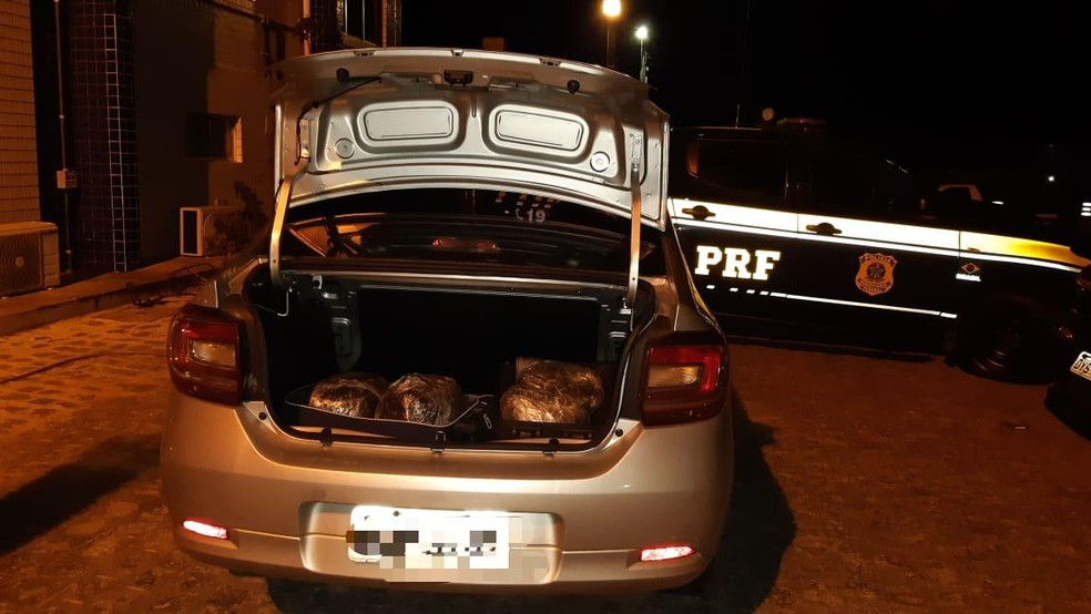 Droga apreendida pela em Gravatá — Foto: Polícia Rodoviária Federal/Divulgação