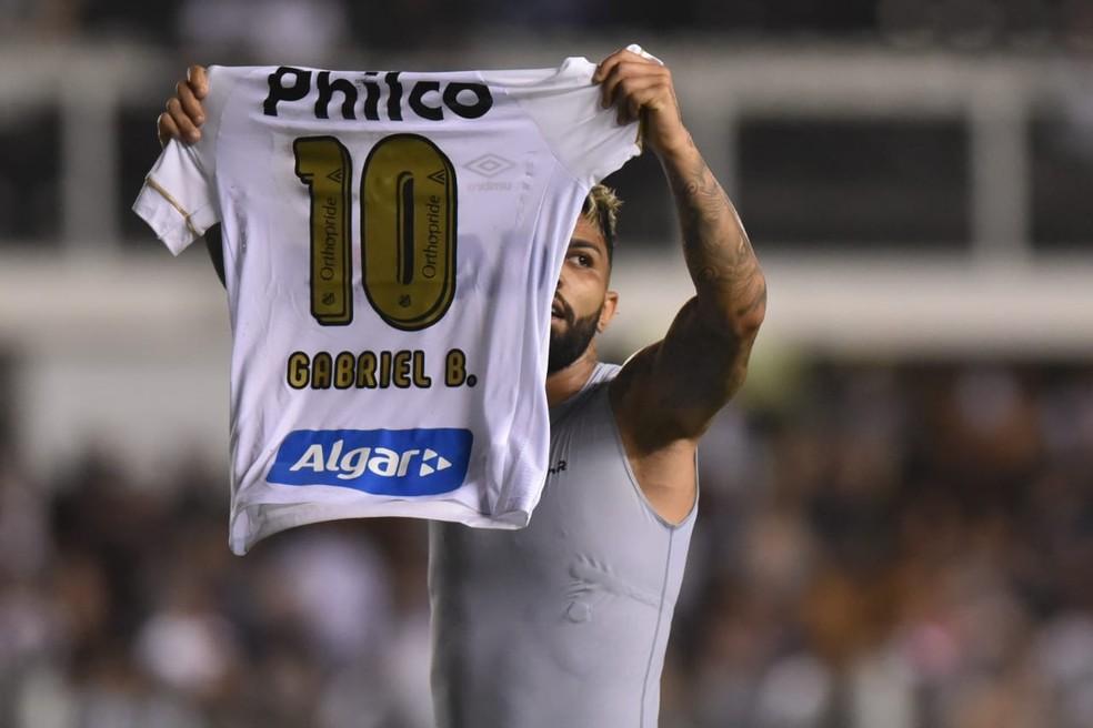 No Santos, Gabriel jogava com a 10 â?? Foto: Ivan Storti | Santos FC l divulgação