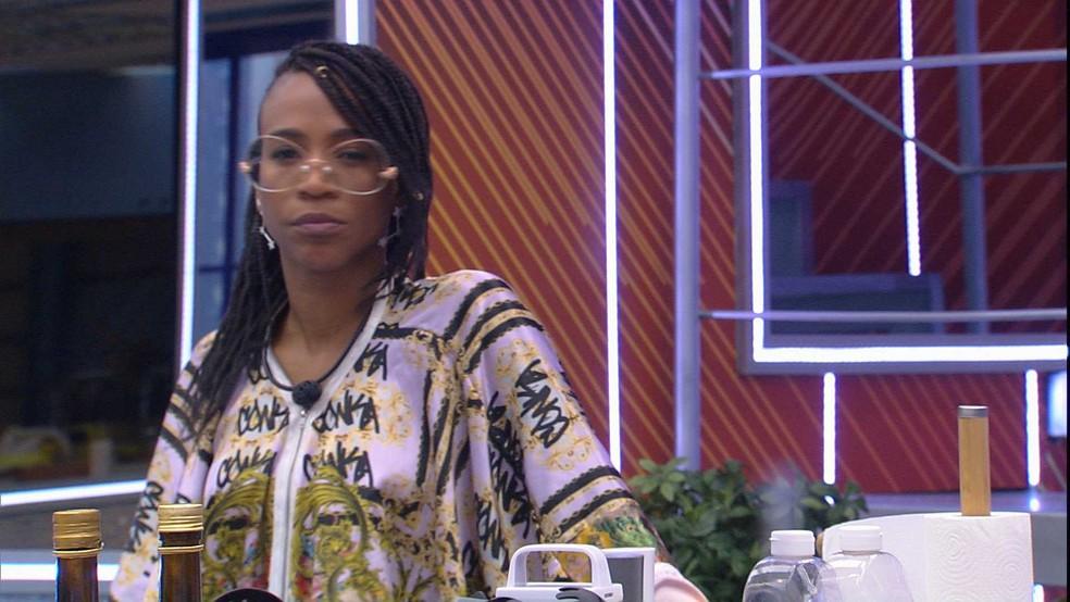 Karol Conká desabafa com Caio no Vip do BBB21: 'Tem coisa que eu não consigo passar' — Foto: Globo