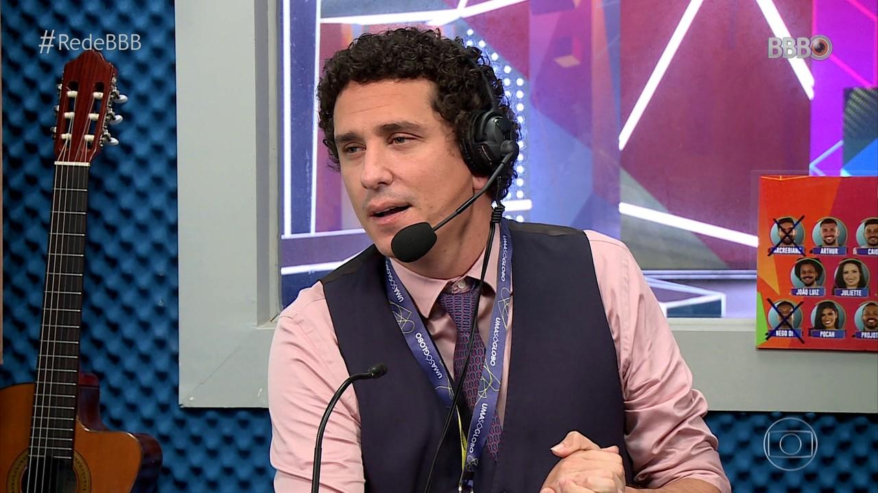 CAT BBB: Rafael Portugal brinca com rumos do jogo e faz piada com os romances da casa
